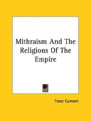 Cover of: Mithraism And The Religions Of The Empire