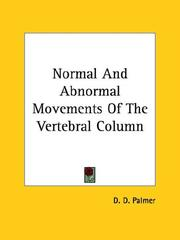 Cover of: Normal and Abnormal Movements of the Vertebral Column
