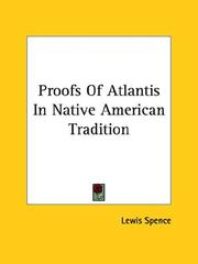 Cover of: Proofs of Atlantis in Native American Tradition