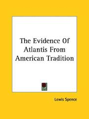 Cover of: The Evidence of Atlantis from American Tradition