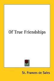 Cover of: Of True Friendships