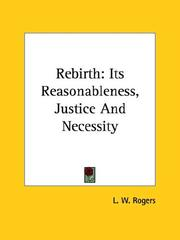 Cover of: Rebirth | L. W. Rogers
