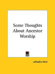 Cover of: Some Thoughts About Ancestor Worship