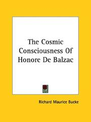 Cover of: The Cosmic Consciousness of Honore De Balzac
