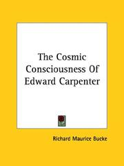 Cover of: The Cosmic Consciousness of Edward Carpenter