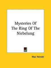 Cover of: Mysteries of the Ring of the Niebelung | Max Heindel
