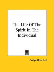 Cover of: The Life of the Spirit in the Individual