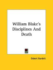 Cover of: William Blake's Disciplines and Death
