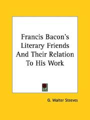 Cover of: Francis Bacon