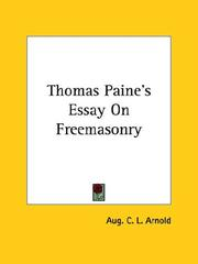 Cover of: Thomas Paine