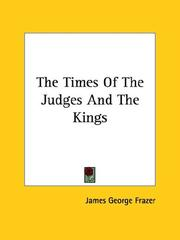 Cover of: The Times of the Judges and the Kings