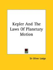 Cover of: Kepler and the Laws of Planetary Motion