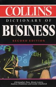 Cover of: Collins Dictionary of Business