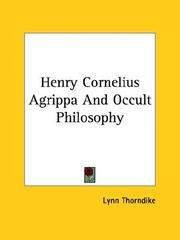 Cover of: Henry Cornelius Agrippa and Occult Philosophy