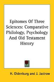 Cover of: Epitomes of Three Sciences | H. Oldenburg