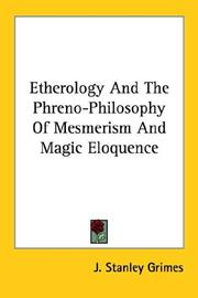 Cover of: Etherology And the Phreno-philosophy of