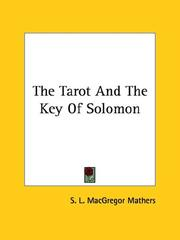Cover of: The Tarot and the Key of Solomon