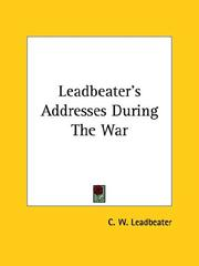 Cover of: Leadbeater