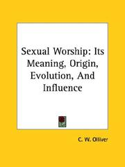 Cover of: Sexual Worship | C. W. Olliver