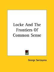 Cover of: Locke and the Frontiers of Common Sense