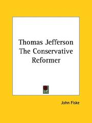 Cover of: Thomas Jefferson: The Conservative Reformer