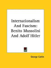 Cover of: Internationalism and Fascism