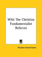 Cover of: With The Christian Fundamentalist Believes