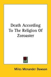Cover of: Death According to the Religion of Zoroaster