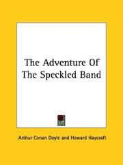 Cover of: The Adventure of the Speckled Band | Arthur Conan Doyle