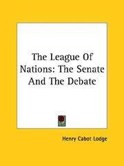 Cover of: The League of Nations