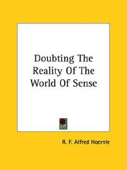Cover of: Doubting the Reality of the World of Sense