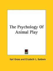 Cover of: The Psychology of Animal Play