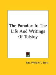 Cover of: The Paradox in the Life and Writings of Tolstoy