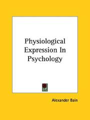 Cover of: Physiological Expression in Psychology