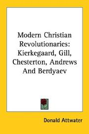 Modern Christian revolutionaries by Attwater, Donald