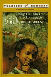 Cover of: Philip Hall Likes Me, I Reckon