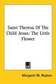 Cover of: Saint Theresa Of The Child Jesus | Margaret M. Repton