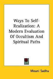 Cover of: Ways to Self-realization | Mouni Sadhu
