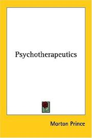 Cover of: Psychotherapeutics