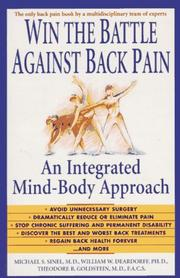 Cover of: Win the battle against back pain