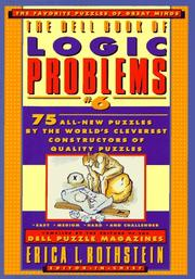 Cover of: The Dell Book of Logic Problems, Number 6 (Dell Book of Logic Problems) | Dell Mag Editors
