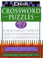 Cover of: Dell Crossword Puzzles #19 (Dell Crossword Puzzle Series , No 19) | Dell Mag Editors