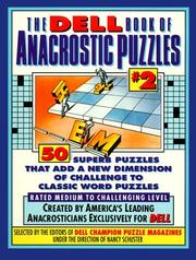 Cover of: The Dell Book of Anacrostic Puzzles #2 | Dell Mag Editors