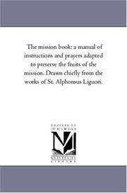 Cover of: The mission book