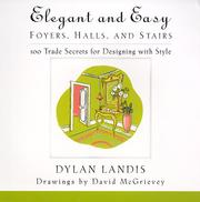 Cover of: Elegant and Easy Foyers, Halls, and Stairs | Dylan Landis