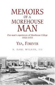 Cover of: Memoirs of a Morehouse Man | S. Earl, III Wilson