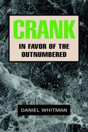 Cover of: Crank | Daniel Whitman