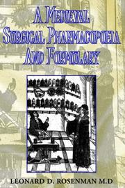 Cover of: A Medieval Surgical Pharmacopoeia And Formulary