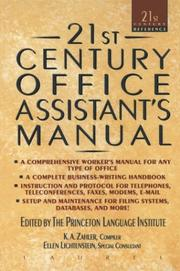 Cover of: 21st Century Office Assistants Manual