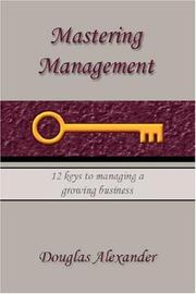 Cover of: Mastering Management